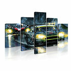 TRANSPORT Vehicle Car 2 Canvas 5 Framed Printed Wall Art ~ 5 Panels