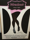 Miraclesuit Shaper Tights Black size S & M Opaque Footed Tummy Control Shapewear