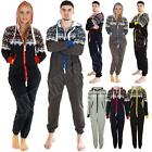 Unisex Adult Zip Up Hooded Womens Jumpsuit Aztec Print Ladies Pyjama Nightwear M
