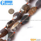 "Faceted Natural Agate Rough Gemstone Beads Strands 15"" Jewelry Making 24x30mm"
