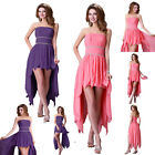 FREE SHIP* 2015 High Low Masquerade Short Evening Dresses Prom Formal Party GOWN