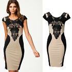 NEW Fashion Floral Lace Womens Bodycon Slimming Dress Evening Cocktail Party