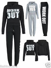Womens Ladies Work Out Fleece Track Suit Jogging Bottoms Top Jog Track Suits