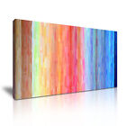 MODERN ABSTRACT ART Rainbow Illusions Canvas Framed Print ~ More Size