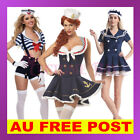 Navy Sailor Girl Uniform Ladies Rockabilly Retro Fancy Dress Halloween Costume