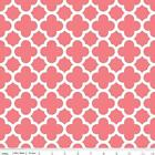 QUATREFOIL  - CORAL - RILEY BLAKE 100% COTTON FABRIC