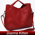 Fashion Women PU Leather Shoulder Bag Handbag Tote Hobo Style Satchel Black /Red