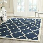 Safavieh Cambridge NAVY/ IVORY Wool Contemporary Area Rug - CAM134G