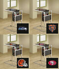 FC671 NFL LOGO THEME SLIDE UNDER GLASS SHELF TV TRAY MAGAZINE RACK FREE SHIPPING