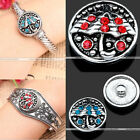 1Pc Crystal Umbrella Chunk Charms Snap On Button For Buckle Bracelet Bangle Cuff