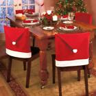 Santa Red Hat Chair Covers Christmas Decorations Dinner Chair Xmas Cap Sets HOAU