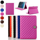 Rhombus Smart Auto Sleep PU Leather Stand Flip Case Cover For iPad Mini 1 2 3