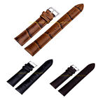Unisex Faux Leather Wristwatch Band Strap Stainless Steel Buckle 12-24mm WS02