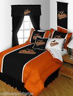 Baltimore Orioles Bed in a Bag Drapes Valance Twin to King Size Sets