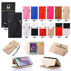 Zip PU Wallet Flip Stand Case Cover For Samsung Galaxy S5/Note 4 iPhone 6/Plus