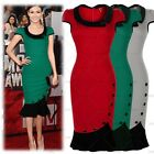 Women's Short Prom Gowns Evening Party Bodycon Ruffles Mermaid Dress Size 81024