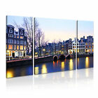 Holland 3 Europe Cityscape 3B Framed Print Canvas Wall Art~ 3 Panels