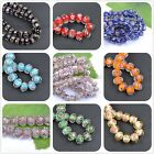 Faceted Rondelle Flower Lampwork Glass Beads, Pick Your Colour, Size, 10MM 12MM