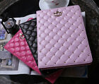 Flip Stand Case Bling Crown Ling plaid Leather Cover For ipad Mini 2/3/4 Air 5