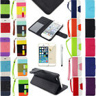 leather iphone 5s pouch - Hybrid PU Leather Flip Pouch Stand Wallet Case Smart Cover For iPhone 5 5S SE