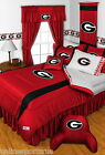 Georgia Bulldogs Comforter Sham and Valance Twin to King Size Sets