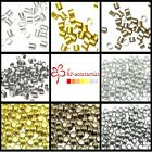 1000 Pcs Metal Crimps Stopper Beads - Silver / Gold / Bronze / Black Plated