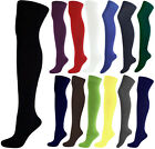 Womens Over The Knee Thigh High Socks Stretch Girls OTK Socks Sizes 4 - 6½