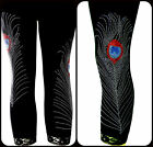 Plus Capri Leggings XL 1X 2X 3X Embellished Rhinestone Stud Peacock Feathers