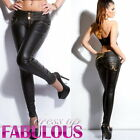 New Sexy Womens Hot Pants Size 4-12 Faux Leather Hottest Clothing Jeans Style