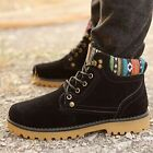 Mens Winter Warm Suede Fur Leather Flats Lace Up Round Head Ankle Snow Boots Hot