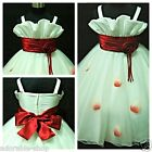 R818 Reds Whites Wedding Party Bridesmaid Flower Girls Dresses SIZE 1 to 12Years