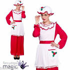 LADIES WOMENS MRS SANTA CLAUS TRADITIONAL CLASSIC CHRISTMAS FANCY DRESS COSTUME