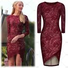 Women Vintage Formal Cocktail Evening Party Bridesmaids Mini Lace Floral Dresses