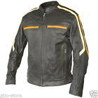 Xelement BXU1844 Mens Classic Cafe Racer Cowhide Leather Motorcycle jacket