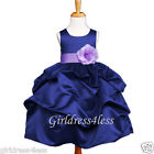 NAVY/LILAC LAVENDER WEDDING PICK UP FLOWER GIRL DRESS 6M 12M 18M 2 4 6 8 10 12
