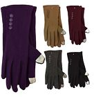Women Lady Outdoor Winter Church Dress Fashion Touch Screen Gloves-Solid