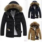 Fashion Winter Parka Faux Fur Hoodies Zip Up Padded Coat Quilted Jackets Outwear
