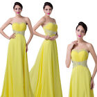 CHEAP Yellow Prom Gowns Evening Maxi Party/Cocktail/Prom LONG Dress UK SIZE 6-20