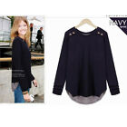 C8 US Womens Casual T-Shirt Tops Cotton Autumn Shirts Long Sleeve Clothing