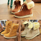 Womens Ladies Boots Mid Calf Boots Plus Size Lined Thick Sole Warm Snow Boots