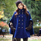 Women's Wood Blends Winter Warm Batwing Cape Coat Pashmina Jacket Poncho Outwear