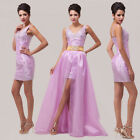 Sexy Bridesmaid Ball Gown Prom Party Evening Long/Short Dress Stock Size UK 6-20