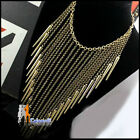 Womens Ladies Tassels Party Necklace Triangle Shape Korean Fashion Jewelry
