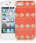 Christmas Winter Festive Pattern Hard Back Case Cover For iPhone 4 & iPhone 4s