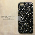 ED Black Bling Crystal Rhinestone Hard Skin Case Cover For iPhone LG Motorola