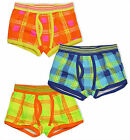 Boys Checked Boxer Shorts Kids Boxers Underwear 3 Pack Pants New Age 2-13 Years