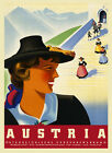Girl Ladies People of Austria Travel Tourism Vintage Poster Repro FREE S/H