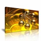 MODERN ABSTRACT ART Gold Circle Illusions Canvas Framed Print ~ More Size