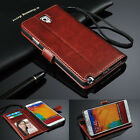 Genuine Real Leather Flip Wallet Case Cover For Samsung S Series& Note Series.