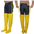 Long Yellow Rubber Shoes Strong Heavy Natural Latex Work Liquid Shose 230 280mm